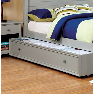 Evanoff Transitional Trundle Unit Bed Frame Color: Gray