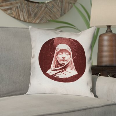 Carpenter Vintage Prayer Woman Throw Pillow Size: 18 x 18