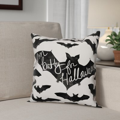 Im Batty for Halloween Throw Pillow Pillow Use: Outdoor