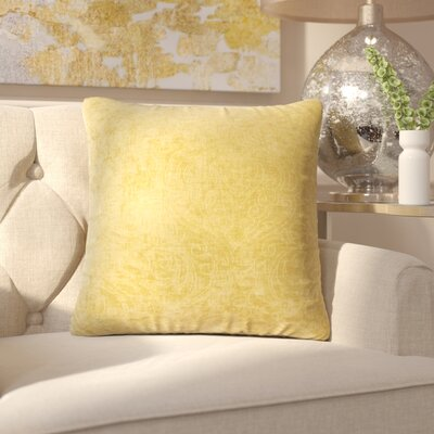 Jayde Solid Throw Pillow Color: Yellow