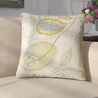 Gunnel Floral Linen Throw Pillow Color: Peridot