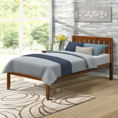 Newbill Twin Platform Bed Color: Walnut