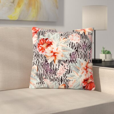 Tropical Fusion by Nika Martinez Throw Pillow Size: 16 H x 16 W