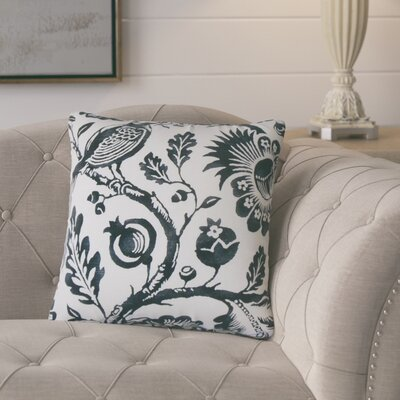 Polston Floral Cotton Throw Pillow