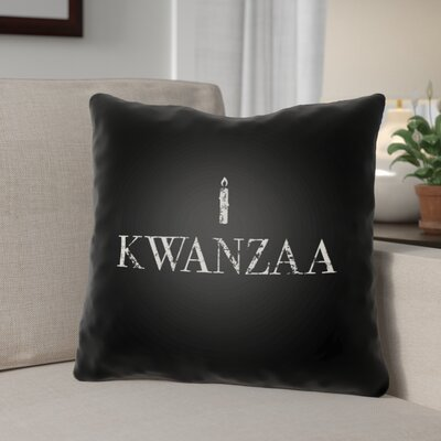 Kwanzaa Indoor/Outdoor Throw Pillow Size: 20 H x 20 W x 4 D, Color: Black