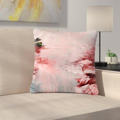 Ebi Emporium Winter Dreamland Outdoor Throw Pillow Size: 16 H x 16 W x 5 D, Color: Red/Gray
