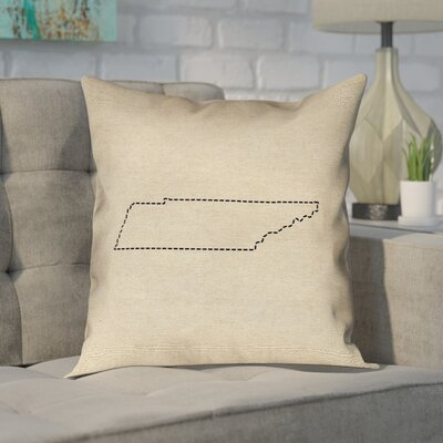 Chaput Tennessee Dash Outline Pillow