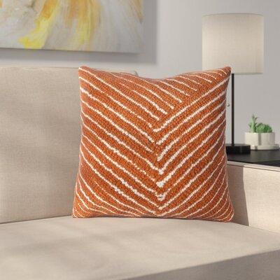 Ponton Diagonal Stripe Throw Pillow Color: Orange