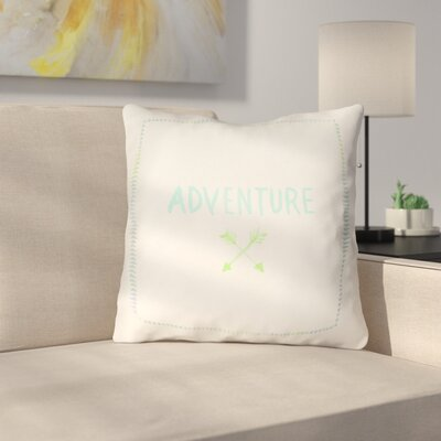 Square Shaped Accent Indoor/Outdoor Throw Pillow Size: 20 H x 20 W x 4 D, Color: White/Blue