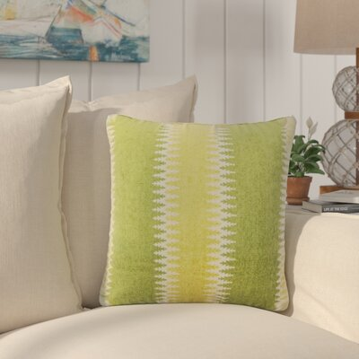 Ivydale Stripes Throw Pillow Color: Green