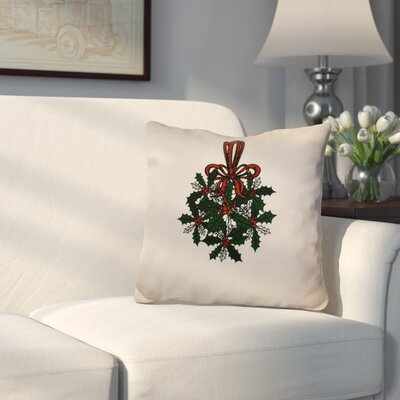 Decorative Holiday Throw Pillow Size: 18 H x 18 W, Color: Dark Green