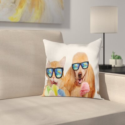 Modern Animal Pillow Cover with Zipper Size: 18 x 18