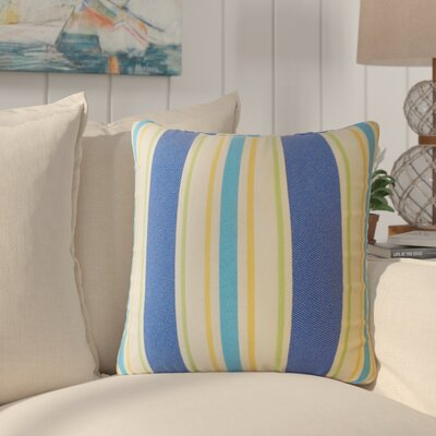 Jolana Striped Down Filled Throw Pillow Size: 18 x 18, Color: Blue
