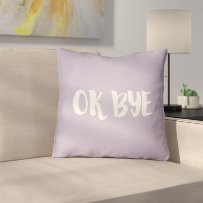 Indoor/OutdoorThrow Pillow Size: 20 H x 20 W x 4 D, Color: Purple
