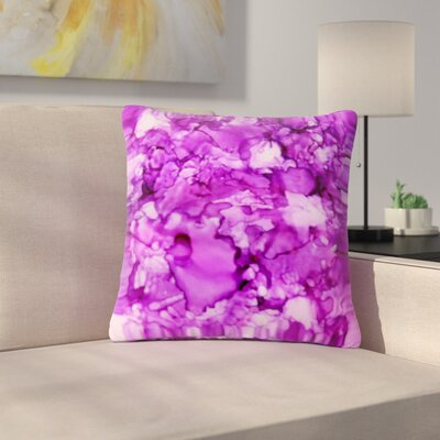 Claire Day Outdoor Throw Pillow Size: 18 H x 18 W x 5 D, Color: Purple