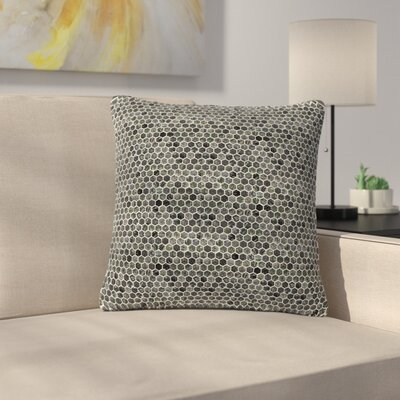 Petit Griffin Marble Abstract Outdoor Throw Pillow Size: 16 H x 16 W x 5 D