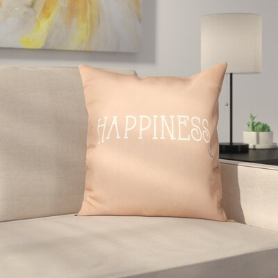 Mae Coastal Happiness Throw Pillow Size: 16 H x 16 W, Color: Taupe