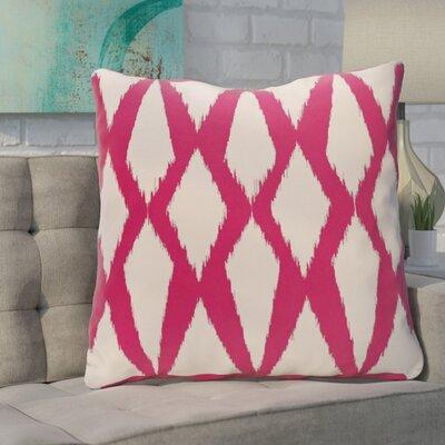 Blasingame Geometric Decorative Outdoor Pillow Color: Fushia, Size: 18 H x 18 W x 1 D
