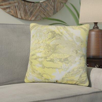 Bamey Toile Cotton Throw Pillow Color: Yellow