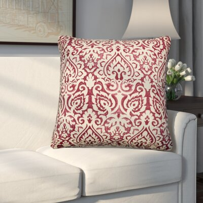 Godines 100% Cotton Throw Pillow Color: Dark Red