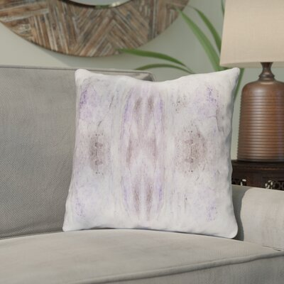 Antram Silk Throw Pillow Size: 18 H x 18 W x 4 D, Color: Purple/Neutral
