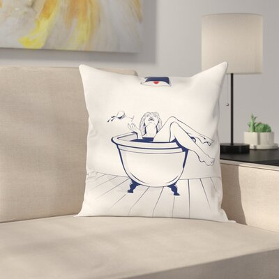 Young Woman Pillow Cover Size: 18 x 18