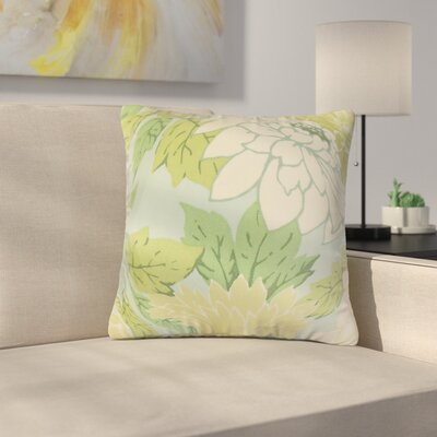 Strawser Floral Throw Pillow Color: Blue/Green