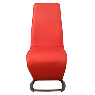 Demby Upholstered Dining Chair Upholstery: Red