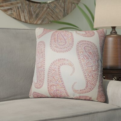 Southstoke Paisley Throw Pillow Color: Orange