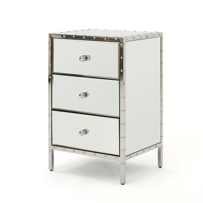 Mcnally Mirror 3 Drawer End Table