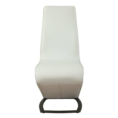 Demby Upholstered Dining Chair Upholstery: White