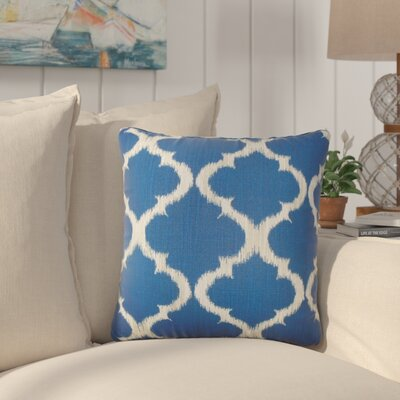Berman Geometric Cotton Throw Pillow Color: Marine