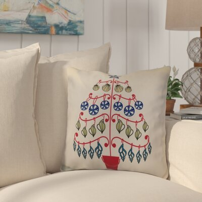 Huong Decorative Holiday Geometric Print Square Throw Pillow Size: 16 H x 16 W, Color: Pink