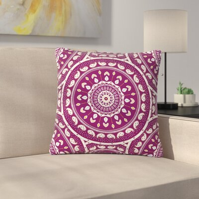 Cristina Bianco Mandala Design Abstract Outdoor Throw Pillow Size: 18 H x 18 W x 5 D