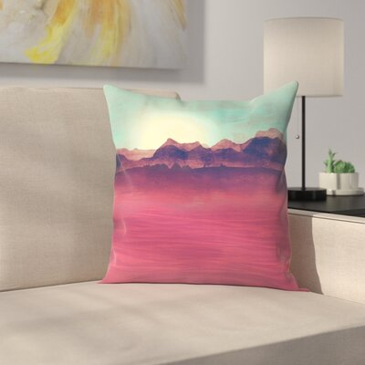 Tracie Andrews Distant Mountains Throw Pillow Size: 14 x 14
