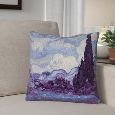 Morley Wheat Field with Cypresses Throw Pillow Size: 18 x 18