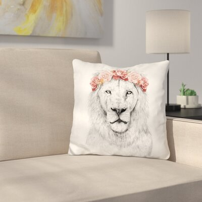 Festival Lion Throw Pillow