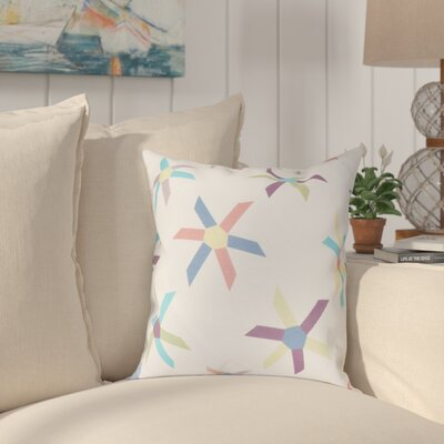 Boubacar Pinwheel Pop Geometric Throw Pillow Size: 20 H x 20 W, Color: Turquoise