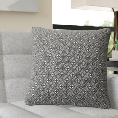 Ravello Throw Pillow Color: White/Black, Size: 16 H x 16 W