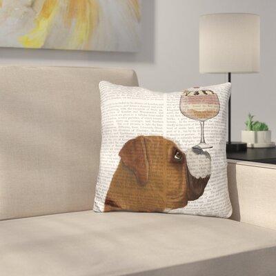 Boxer Ice Cream Throw Pillow