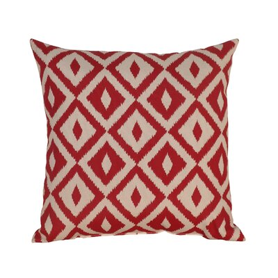 Hallman Toss Indoor/Outdoor Throw Pillow Color: Chili Pepper, Size: 17.5 x 17.5