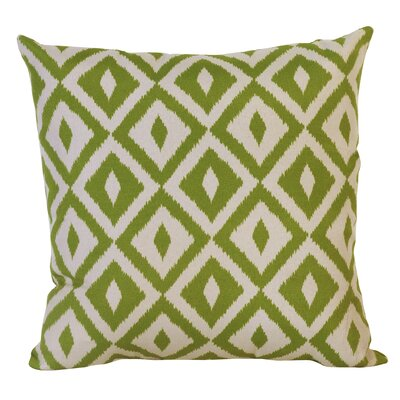 Hallman Toss Indoor/Outdoor Throw Pillow Color: Verde, Size: 17.5 x 17.5