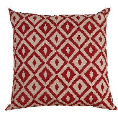 Hallman Toss Indoor/Outdoor Throw Pillow Color: Chili Pepper, Size: 24 x 24