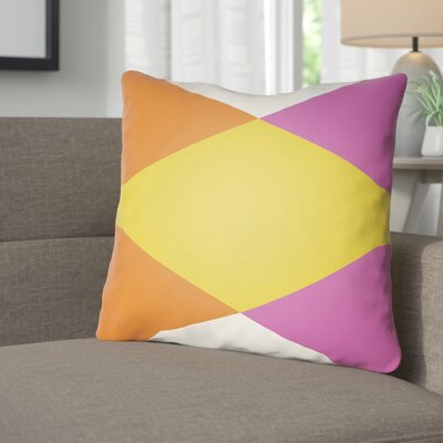 Wakefield Ii Throw Pillow Size: 18 H x 18 W x 4 D, Color: Yellow