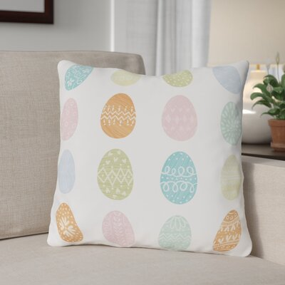 Egg Hunt Throw Pillow Size: 16 H x 16 W x 3 D