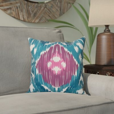 Bridgehampton Traditional Geometric Print Throw Pillow Size: 26 H x 26 W, Color: Teal