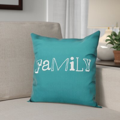 Scotland Home Throw Pillow Size: 20 H x 20 W, Color: Teal
