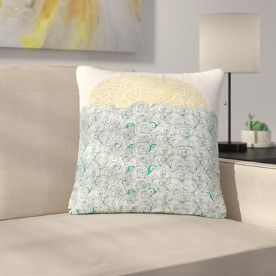 Pom Graphic Design Sunny Tribal Seas II Ocean Outdoor Throw Pillow Size: 16 H x 16 W x 5 D