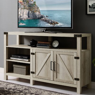 Heywood 58 TV Stand Color: White Oak