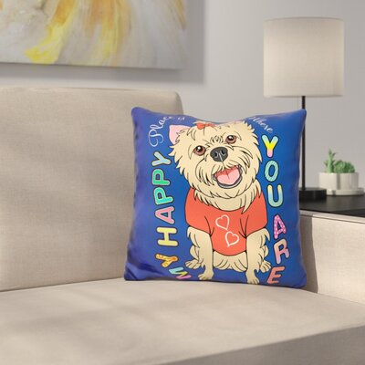 Yorkie Graphic Style Throw Pillow